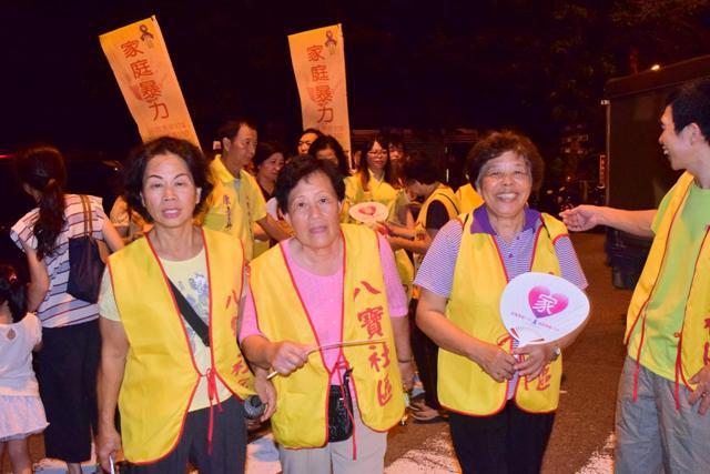 冬山鄉五大社區聯合宣導預防家庭暴力踩街活動