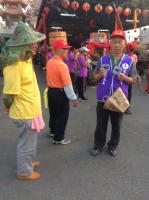 4月19日北斗社區暴力退扇神人有責廟會繞境宣導