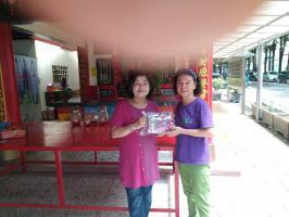 1090717到東興社區及中興社會區送紫色口罩套及討論提案內施作日期、社區意象代表