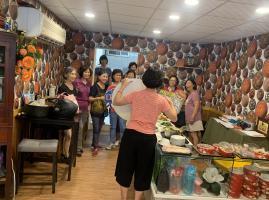 社區媽媽教室米食教學~粉紫彩色水晶餃