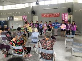 社區的志工媽媽們做伙逗陣來防暴力,攜手一齊反暴力