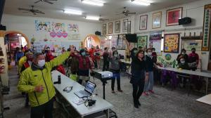社區辦理愛零暴力舞蹈練習及健康操