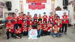 中興大學崇青社送餐至南門社區長者及學生參與防暴-愛零暴力活動。