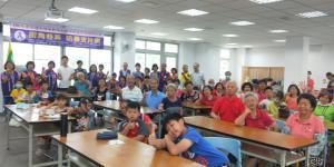 08/07東英社區舉辦父親節活動請廖萬池理事長防暴宣講--社會安全網